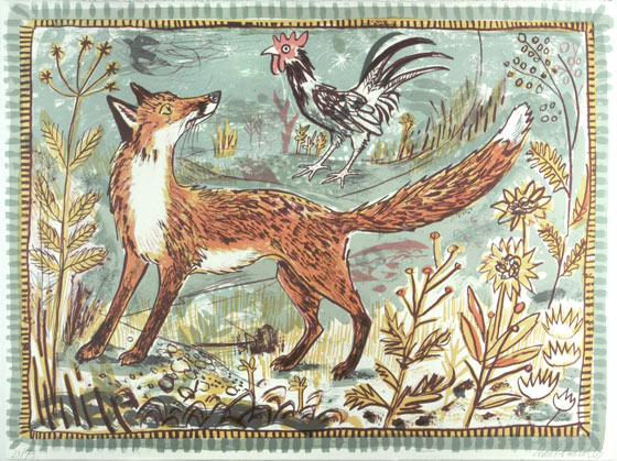 Mark Hearld - Fox - Lithograph